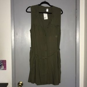 NWT Button Down Dress with Tie Belt from H&M